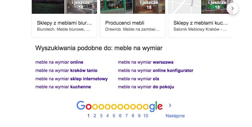 Wyszukiwania podobne Google